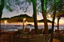 柬埔寨  西哈努克港  海旁餐廳  黃昏