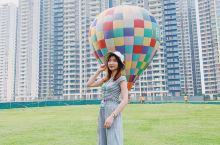 不用去土耳其,在广州就可以坐热气球。终于天晴,趁着天气好上天了。今天参加自由人花园热气球嘉年华,体验