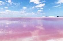 【墨西哥坎昆粉红湖】 真的好美,快做个少女梦吧!天空晴朗的话,反射出云朵更加童话,网红打卡第地!