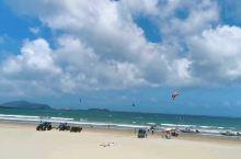 夏天的平潭蓝,北风天的龙凤头。大家一起来玩风筝冲浪吧。