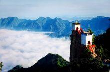 凌晨5点半出发,登秦岭第一仙境,道教名山:塔云山 塔云山之所以吸引眼球是因为金顶的观音殿,建于塔云山