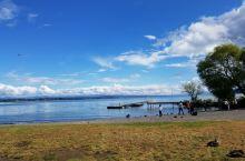 新西兰北岛陶波湖是两千年前一次大型火山爆发的产物,在陶波湖的一些海滩,游泳和涉水的游客还能感受到温暖