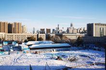 今冬初雪美景开心
