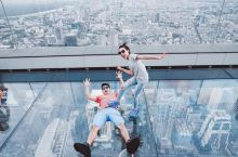 """打卡曼谷超燃最高拍照地:像素大厦 MahaNakhon大楼,泰语里意为""""伟大的 都市"""",因为外表像被"""