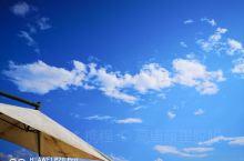 沙滩,蓝天,白云