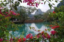 靖西鹅泉风景区,山水田园,处处陶渊明的诗意情怀,水尤其清冽,在日光下呈现出多彩的层次,行走其中,宛若