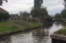 荷兰羊角村一个美丽而宁静的水上小村