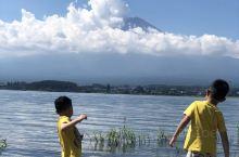 富士山下的河口湖平静宽阔,听着水声涌动,心情特别宁静,偶尔会有大鱼跃出水面,惊起一摊涟漪 傍晚时分,