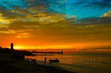 东戴河同湾码头观日出