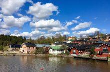 """风景如画波尔沃(Porvoo)  波尔沃距离芬兰首都赫尔辛基约50公里,是一座至今有680多岁的""""历"""
