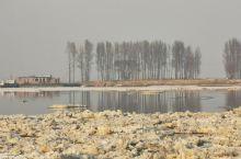 黄河流凌了 蓿亥图集贸市场