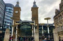 """伦敦利物浦街车站  位于伦敦东北面的""""利物浦街车站(Liverpool Street Station"""