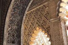 塞维利亚王宫里极其精美的阿拉伯风格的装饰细部。