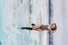 在冬季的贝加尔湖蓝冰上遇到极美的女孩 贝加尔湖·西伯利亚联邦管区