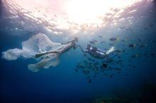 这样的婚纱照你竟然没有#水下摄影#海底婚纱照#水下旅拍