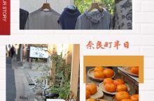 奈良小街闲散半日 從一年一度的正倉院展出來就沿著街走,喜歡日本小城的街市,沒有人潮湧動,見到的小物瞧