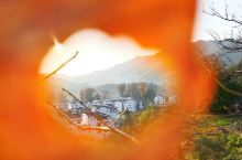 婺源初冬,一日晴一日雨,在石城邂逅夕阳