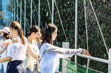 """会喷水的玻璃桥你见过吗?在山上的漂流你见过吗?  来马仁奇峰给你好看!  会""""湿身""""的玻璃桥——飞龙"""