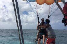 塞班岛好棒的娱乐活动,双人拖曳伞!好刺激,好好玩