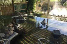 """新西兰怀凯蒂山谷温泉:泡汤、美食两不误  据称,怀凯蒂山谷温泉是""""活水""""的温泉,也就是纯天然的沸水温"""