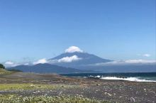 富士山的白帽子。