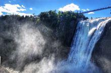 【魁北克】蒙特伦西瀑布(montmonency fall). 名不见经传,其高度却是尼亚加拉瀑布的1