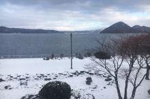 美丽的洞爷湖雪景