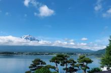 果然秀峰閣是观赏Mr. Fuji的最佳饭店视角,虽然这几天云层还是厚厚的,但惬意的坐在阳台休闲椅上望