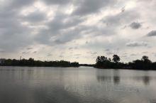 淮滨东湖公园——水天一色,白鹭飞翔!  蓝天、白云、绿树掩映、波光粼粼,还有成群成群飞翔的白鹭,是不