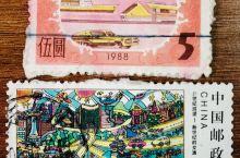 跟着邮票去旅行~30年的人物、景点、人文等变化和传承! 片儿一:88年税票上的汽车基本作为展览或景点
