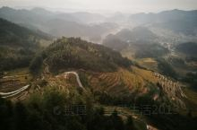 新化县紫鹊界之内的梯田之一。