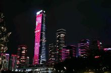 深圳人才公园的灯光秀