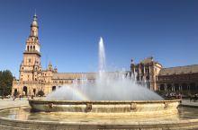 最美西班牙广场 感受不一样的风情 欧洲人还是很重视家人一起度过的时光 基本上都是全家溜达