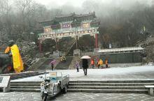 初冬老君山-雪中游老君山1:11月24日早上从宾馆出发时就开始飘小雨,7:40从中灵索道下站乘缆车上