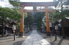 高山的楼山八番神宫。安静的地方