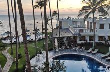 美奈海边度假酒店,在阳台可以看到海以及度假村里的椰树林。 酒店带游泳池。