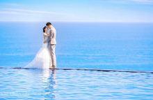 巴厘岛·巴厘省   蓝点  巴厘岛旅拍 悬崖海景无边泳池,还是蓝点教堂的景色最美哦 教堂+泳池+海天