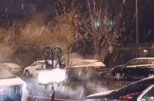 """我们""""东北人""""好像对每年的第一场雪 都有着一种特殊的感情 昨晚,随着一阵阵降雨 2019年真正意义上"""