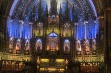 蒙特利尔圣母大教堂,经历了火灾和重建,逐渐发展到今天的规模,是旧城区里最有故事的建筑
