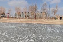 结冰的湖面很美! 皮山·和田