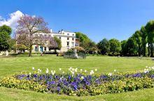 坎特伯雷教堂附近的一个美丽的小公园
