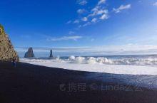 #冰岛D2# 黑沙滩,玩大了,湿到小裤~