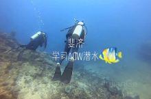 斐济学习AOW潜水 第一次接触潜水还是2013年,我们四人到了菲律宾薄荷岛学习潜水,因为有深海恐惧症