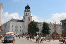 奥地利萨尔斯堡老城区。