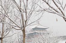 一场大雪把北京变成了银白色。尽管如此,漫天的大雪,仍然不能掩盖住天安门的雄姿。老北京人都渴望下雪,老