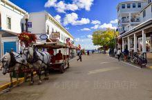 美国旅行——密西根麦基诺岛,是一座像桃花源一样的岛屿,岛上没有汽车只有马车,所有人出行要么走路、要么