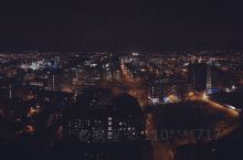A night in terrace of 26th floor. Manchester.