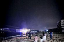 东戴河吃螃蟹,吃月饼,放孔明灯,赏月