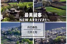 最美藏寨,三月上旬的丹巴春色,迷人的景色