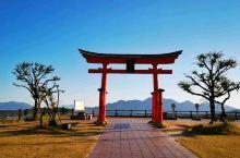 跑累了,我们,又进入了日本, 广岛·广岛县  ,高速休息站,休息!瞧,眼前,就是広岛风景!